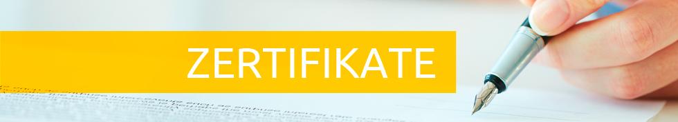 Certyfikaty baner DE
